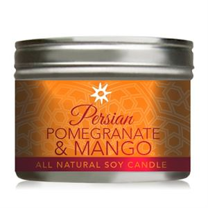Picture of Persian Pomegranate Mango Soy Candle - 10 oz